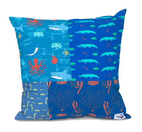 UNDER THE SEA SQUARE CUSHION