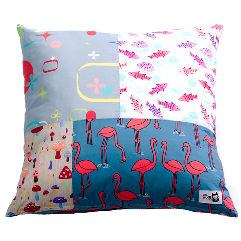 SEA OF MUSHROOM SQUARE CUSHION