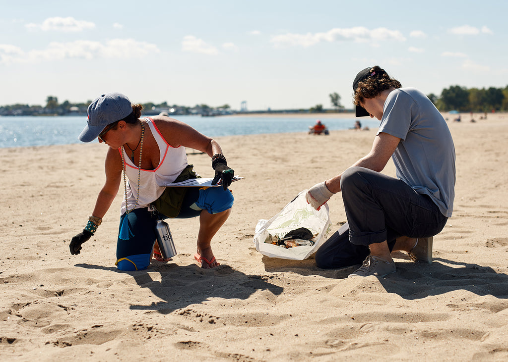 The Tidal team hard at work. The amount of trash that sits on our shores is astounding and although we helped to make a difference to this beach for one day, the issue continues