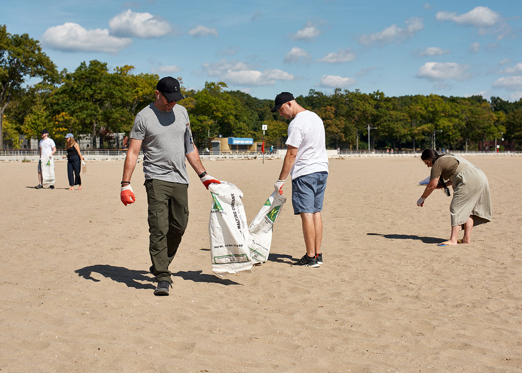 The whole Tidal team pitching in and making a positive difference at Orchard Beach, just 15 minutes from our factory in New Rochelle