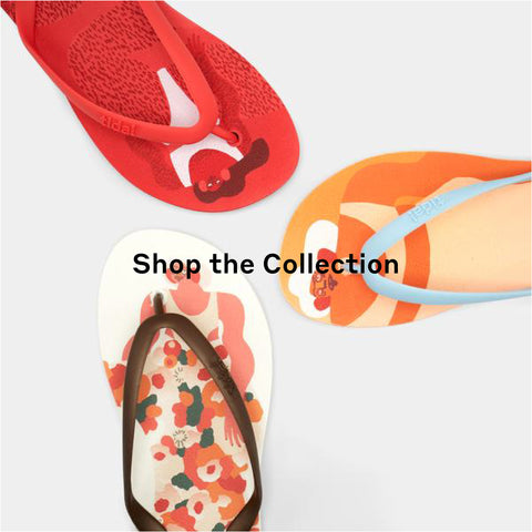 Shop the Amber Vittoria Tidal New York flip flop collection today