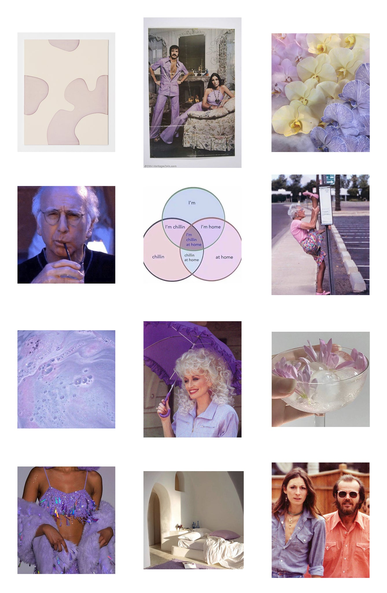 This collection of purple hued images was a big inspiration for Tidal New York's summer moodboard