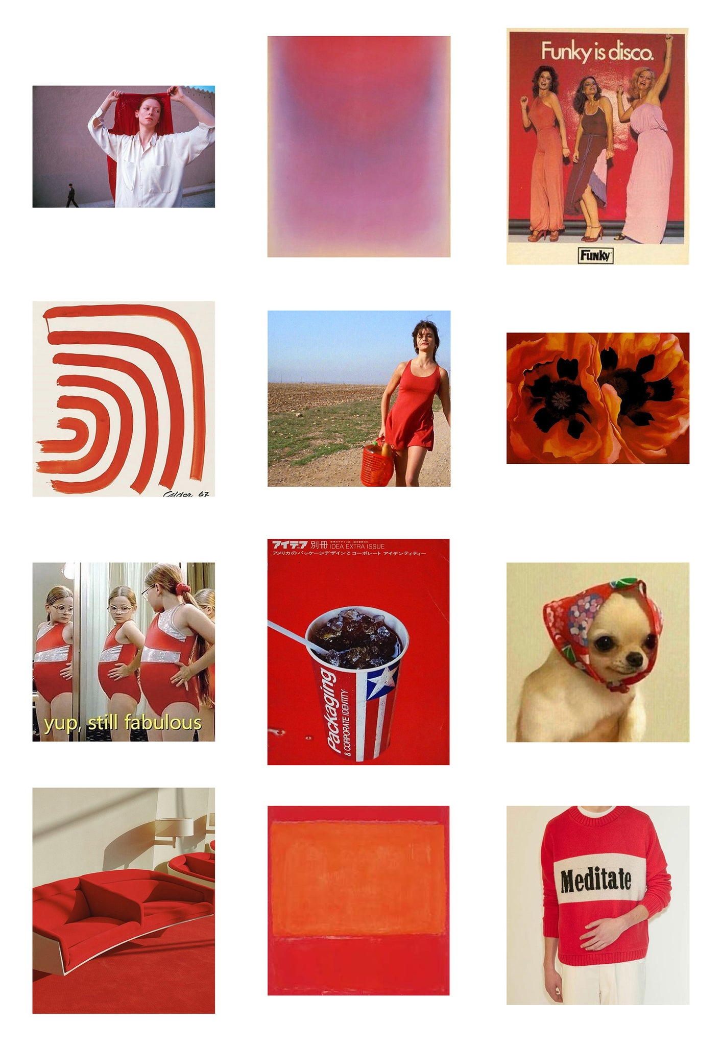 Fiery reds are a must for any summer inspired moodboard and flip flops collections
