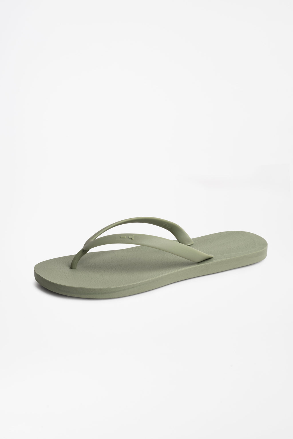 Men's flip flops in olive green and made in America