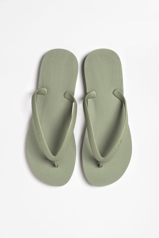 Women's olive green flip-flops by Tidal New York. Shop online today
