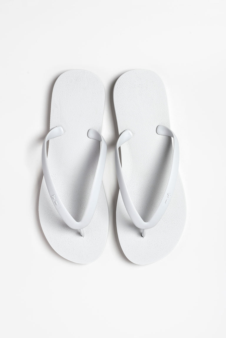 Eco-friendly light grey men's flip-flops