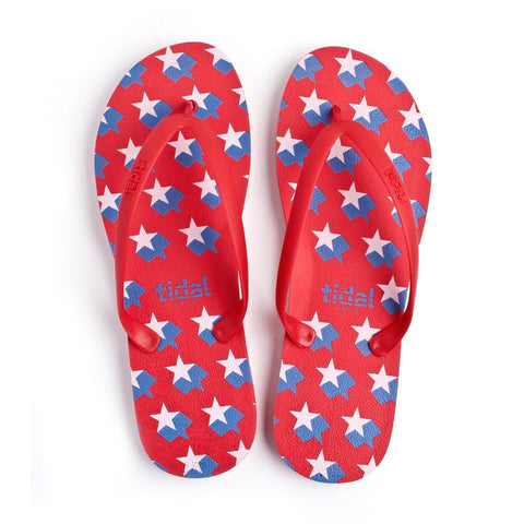 Shooting Stars Women's Flip-Flops - Red