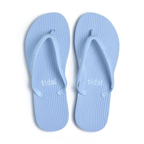 Stripes Women's Flip-Flops - Sky Blue