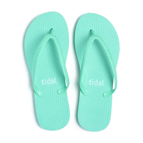 Stripes Women's Flip-Flops - Seafoam