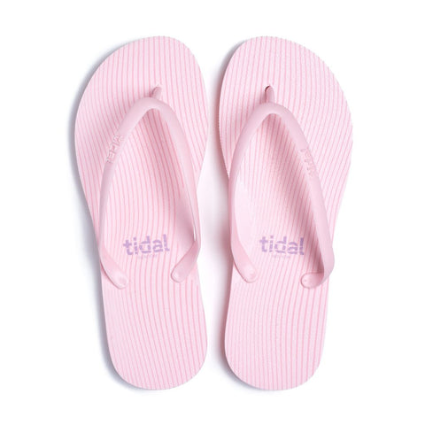Stripes Women's Flip-Flops - Pink
