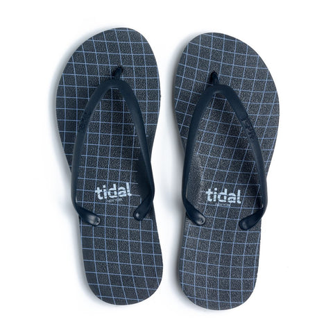 Women's Wavegrid Flip-Flops - Navy