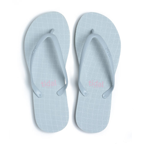 Wavegrid Women's Flip-Flops - Cool Gray
