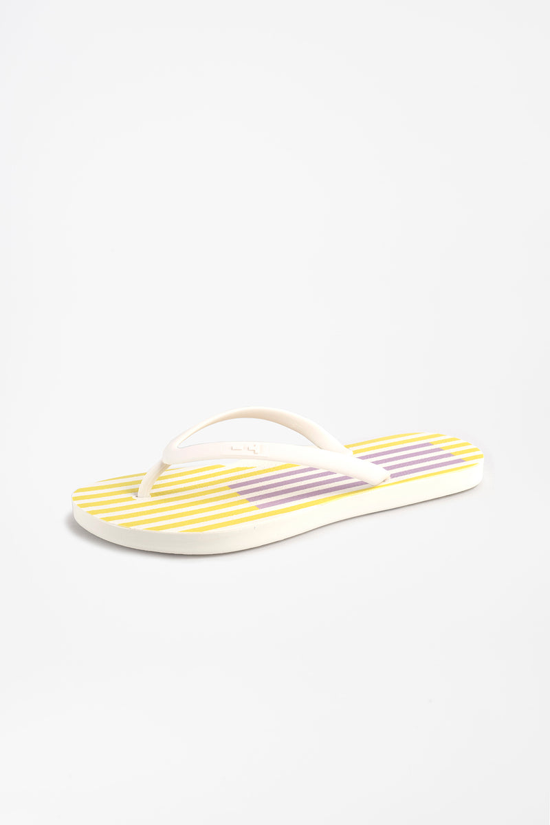 Side view of female flip flops