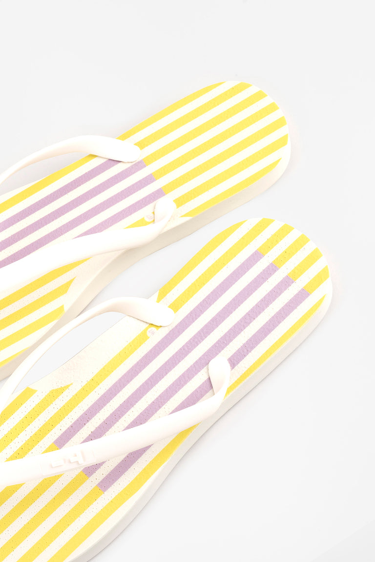 Women's White  flip flops that are made in America