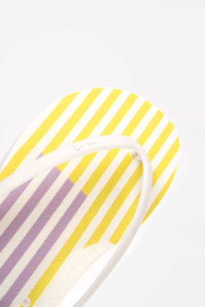Women's Striped  flip flops that are made in America