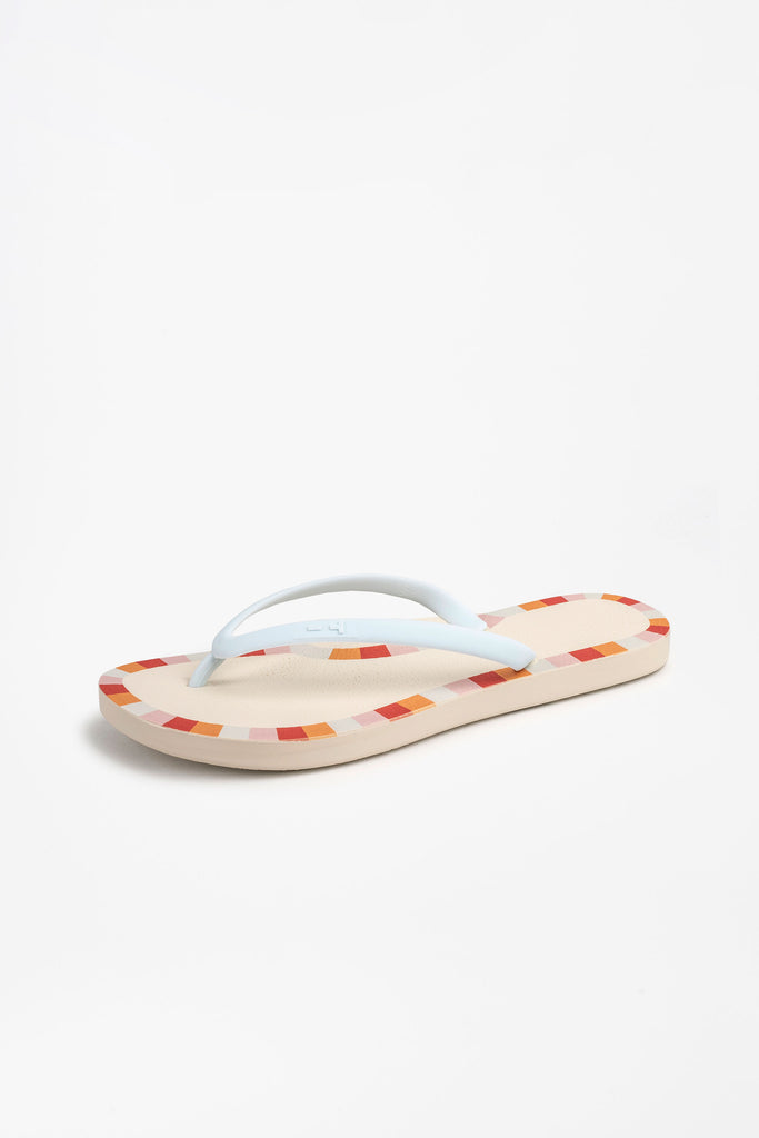 Eco-friendly flip flops with mosaic border