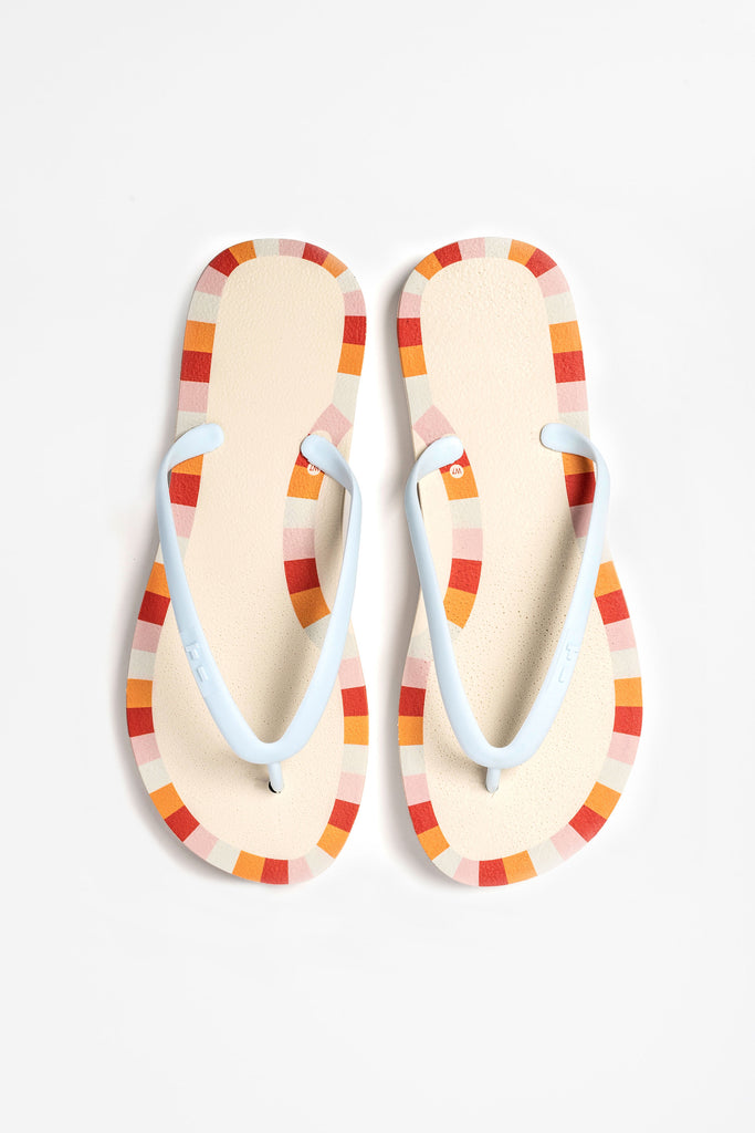 Better than Brazilian flip flops. These sustainable flip flops are made with recycled materials.