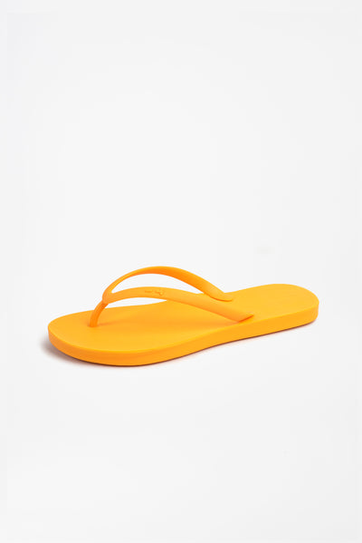 High quality orange flip flops by Tidal NYC