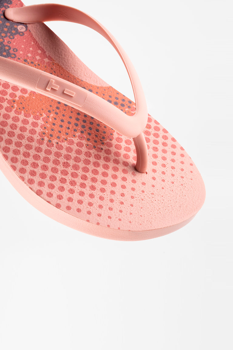 Pink eco-friendly flip flops made in America