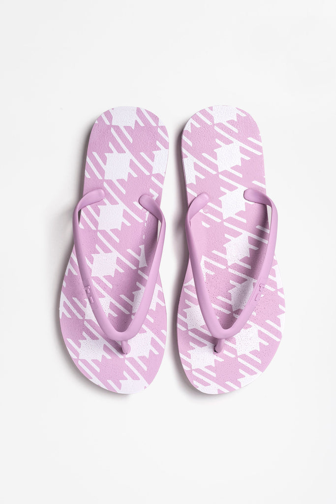 Eco-friendly, sustainable pink flip flops for women made by Tidal New York
