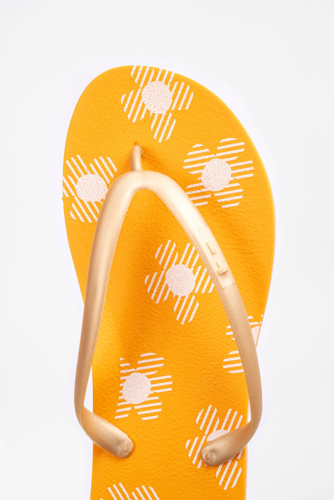 Miami style flip flops with floral pattern by american company Tidal New York