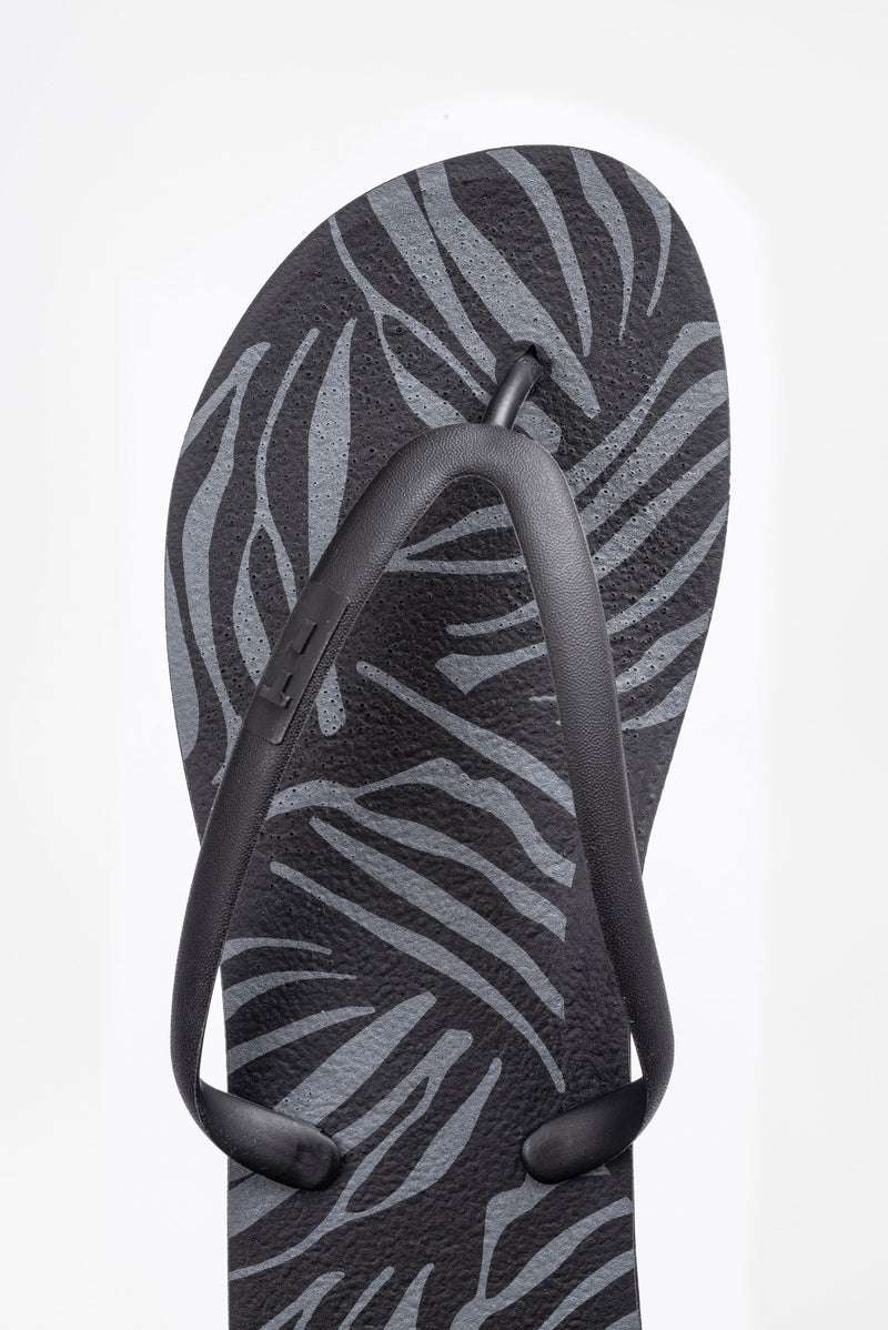 Women's flip flops made in America with recyclable material