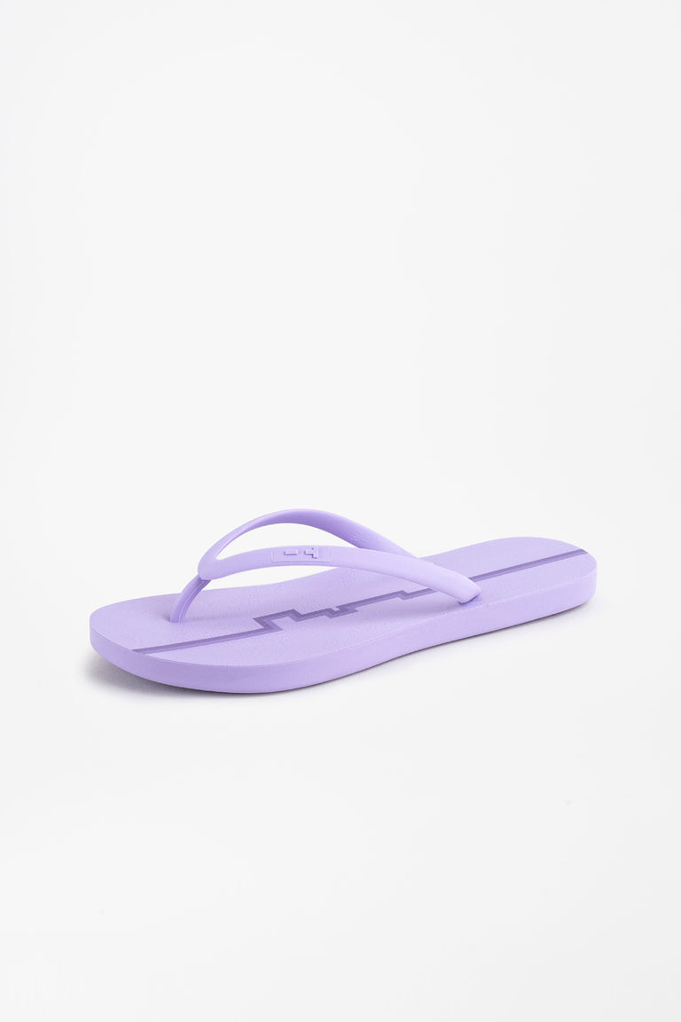 Flip flops for women in lavendar purple color with stripe design