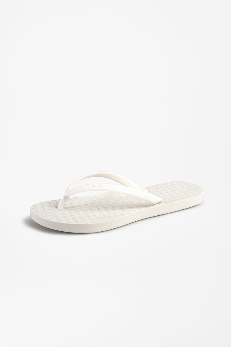 White flip flops for women