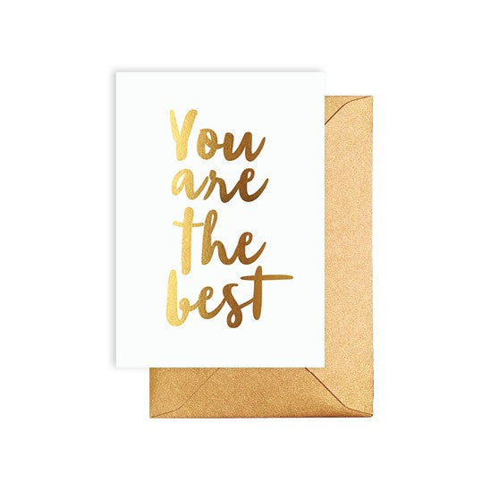 You Are The Best Gold Card