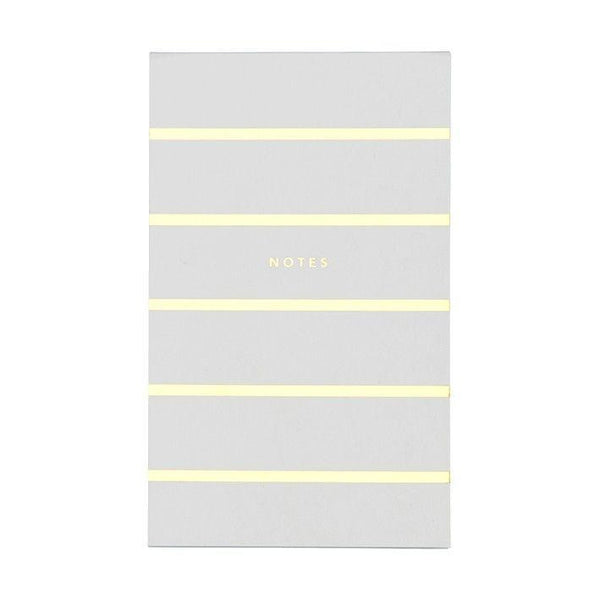 Notepad Gold/White Stripe