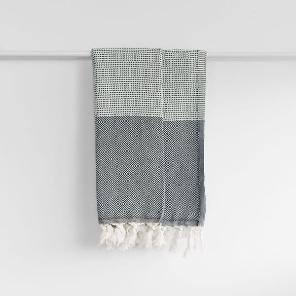 The Geometric Turkish Towel | Black | Available October