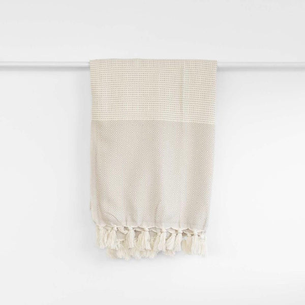 The Herringbone Turkish Towel | Beige