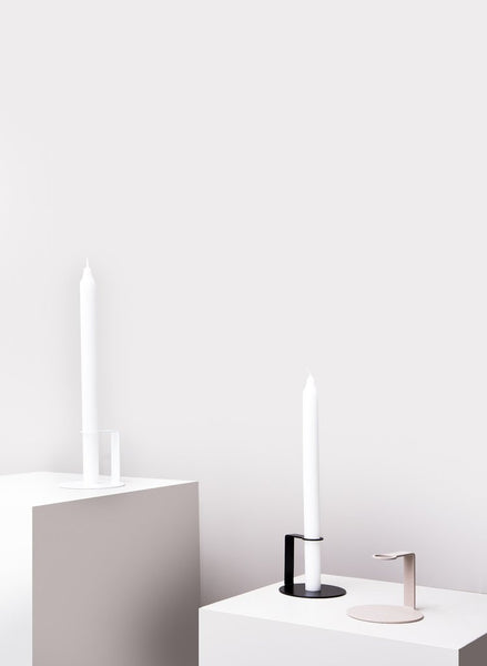 Fold Candle Holder - White