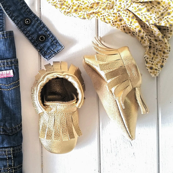 MOX. Gold Moccasins
