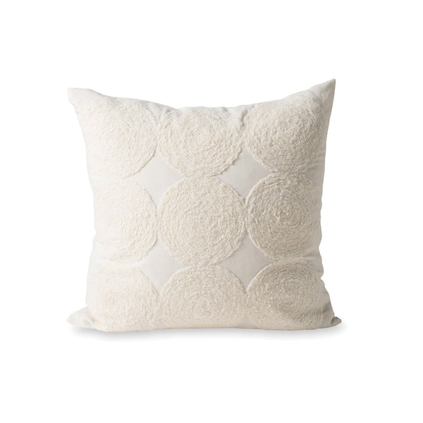 LUNA WOOL EMBROIDERED CUSHION COVER