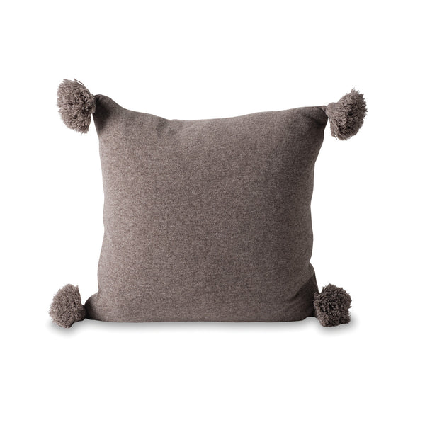 MARL KNITTED WOOL BLEND CUSHION COVER - DATE