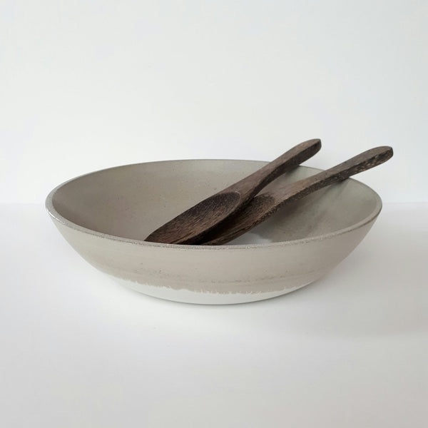 NATURAL + WHITE CONCRETE BOWL