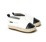 Espadrille White with Black Toe