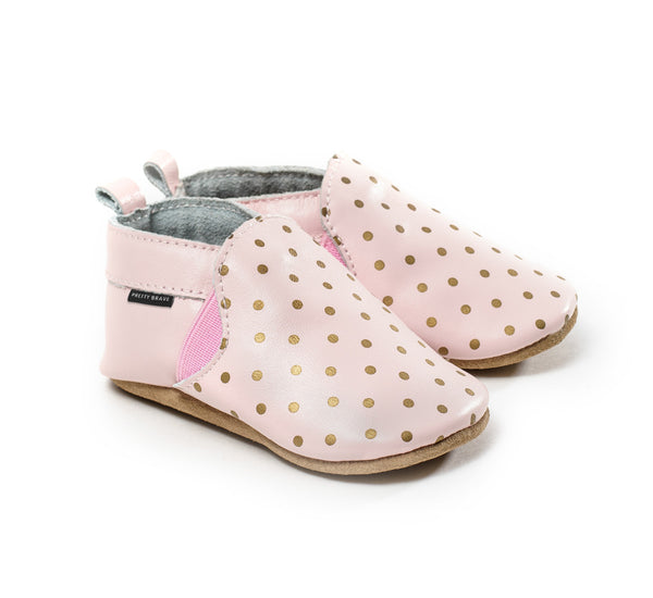 Slip-On Gold Dots on Blush - 25% OFF