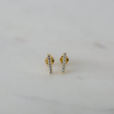 SPARKLE BAR STUDS GOLD
