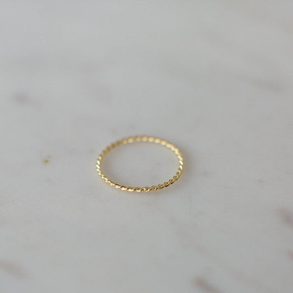 LITTLE OH RING TWIST GOLD
