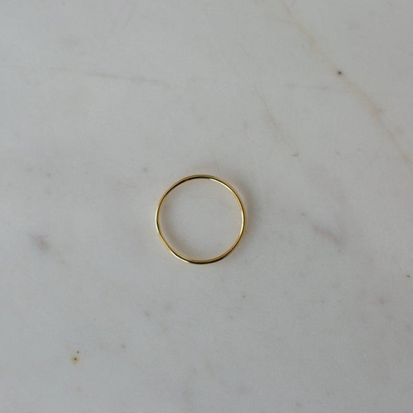 LITTLE OH RING SMOOTH GOLD
