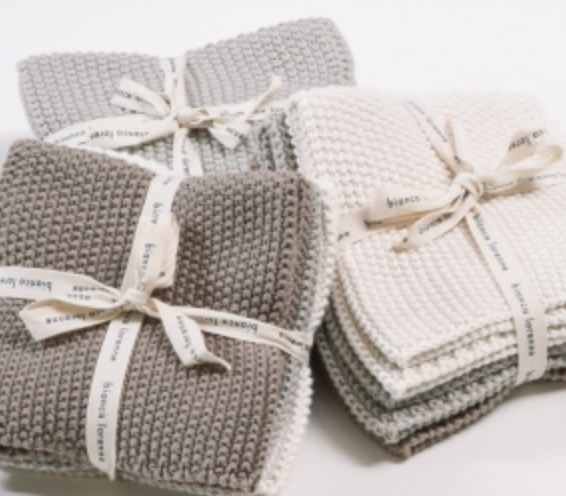 SOFT WASH CLOTHS TAUPE - SET OF 3
