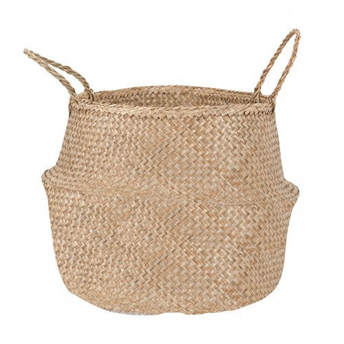 Natural Seagrass Belly Basket - Large
