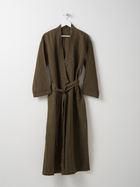 BELLA WOMEN'S LINEN DRESSING GOWN