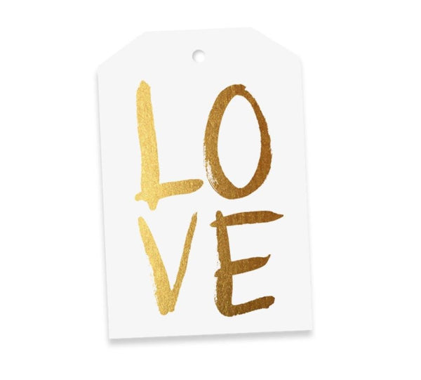 Gold LOVE Gift Tag