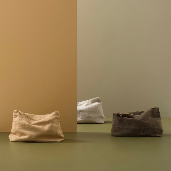LINEN WASH BAG - CITRON