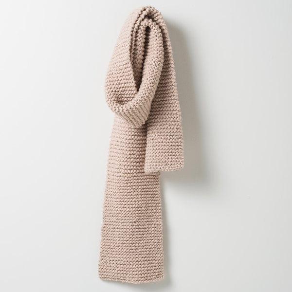 PURL KNIT WOOL SCARF