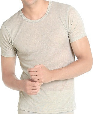 Men's Grey Short-sleeve Undershirt (UW305)