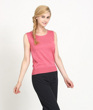Ladies' Textured Knit Sleeveless Blouse